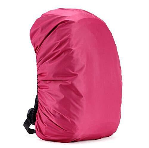 Verstellbarer wasserdichter Rucksack Regenschutz Umhängetasche Tasche Armee Militär Schutztasche Outdoor Camping Wandern Rosa Asaa-364