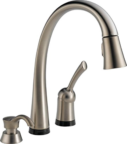 Delta Faucet Pilar Single-Handle Touch Kitchen Sink Faucet with Pull Down Sprayer, Soap Dispenser, Touch2O Technology and Magnetic...