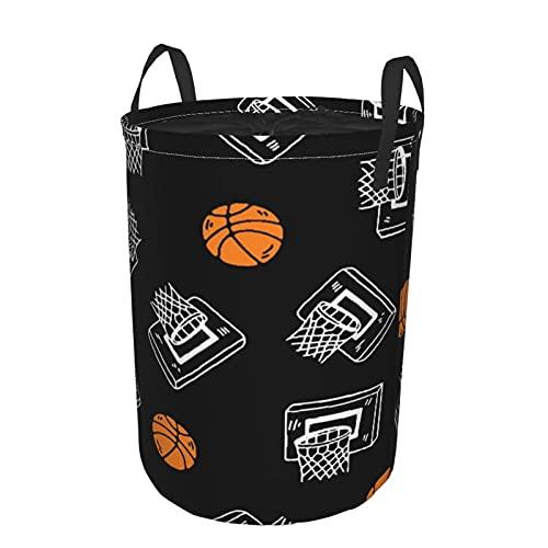 Cesta de lavandería plegable grande,Letra L, Baloncesto Fútbol Voleibol TennCordon de serrage, revêtement imperméable, panier à linge avec poignées, adapté aux vêtements et jouets sales 19 'X14'.