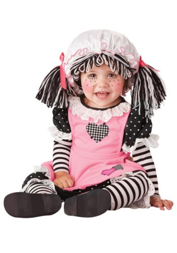 Baby Girls' Rag Doll Costume 24 Months Pink