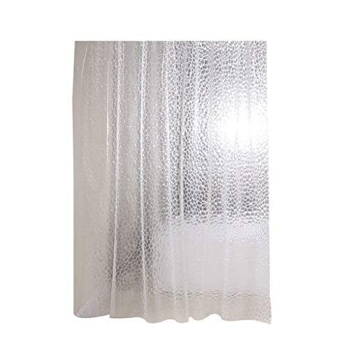 ShiftX4 Kreativer Duschvorhang, durchsichtiger EVA-Duschvorhang, 3D-Wasserwürfel-Duschvorhang mit Magneten, robust, 183 x 183 cm