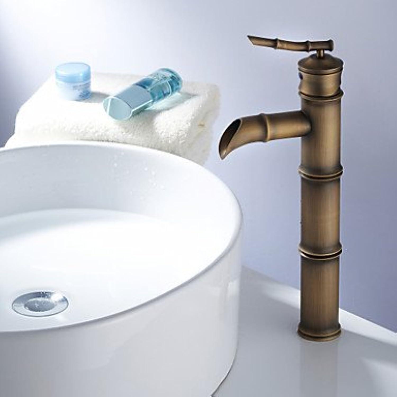 SQL Art Deco retro boat single handle antique brass bathroom sink faucets single hole