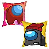shenguang Pillow Covers Set of 4 Among-Us Red Throw Pillow Covers Pillow Case for Sofa 20'X20'
