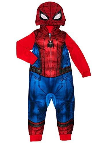 Marvel Spider-Man Pajamas 1-Piece Blanket Costume Sleeper for Boys, Red Multi, 8