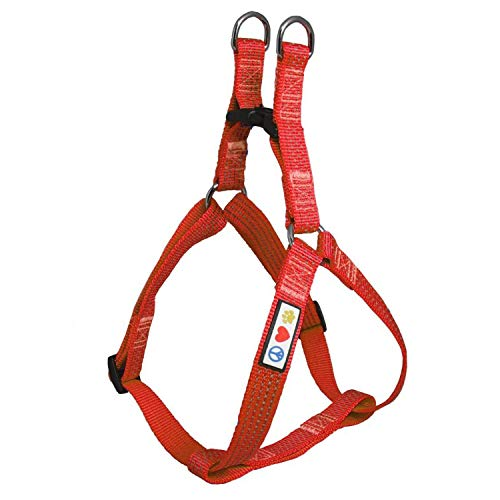 Pawtitas Reflective Step in Dog Harness or Reflective Vest Harness, Comfort Control, Training Walking of Your Puppy/Dog Extra Small Dog Harness XS Red Dog Harness