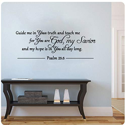 Guide Me in Your Truth and Teach MePsalm 255 Sticker mural religieux