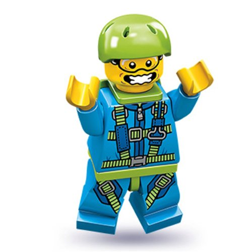 Lego Series 10 Skydiver Mini Figure by LEGO