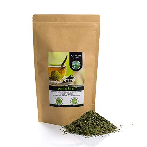 Tè in foglie di gelso (125g), tagliato, essiccato delicatamente, puro al 100% e naturale per la preparazione del tè, tisana
