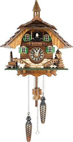 Kuckucksuhr Quarz-Uhrwerk Chalet-Stil 31cm von Engstler