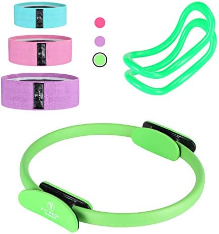 Pilates Ring Exercise Equipment for Inner Outer Thigh Abs Legs Muscle Strength includes Resistance product image