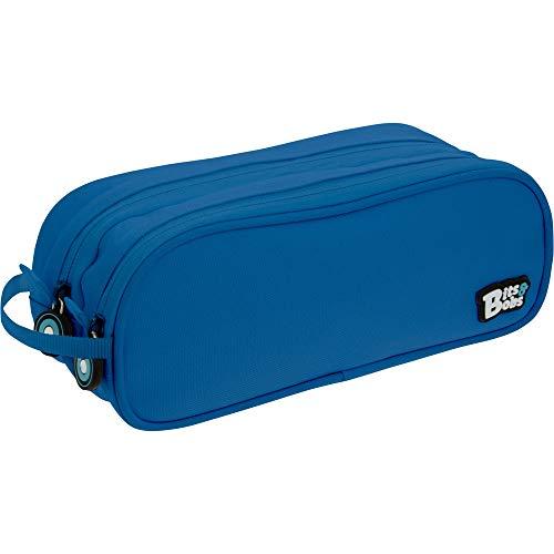 Grafoplás 37543930. Bits & Bobs Trousse double Bleu 24,5 x 9,5 cm