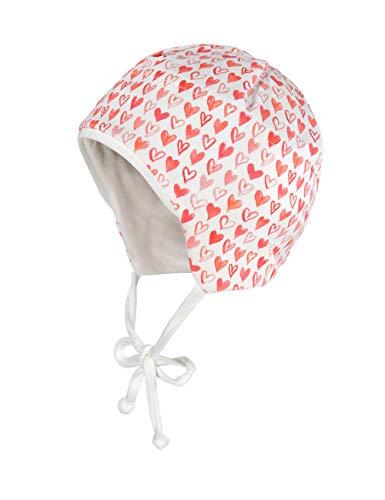 maximo Baby-Mädchen Jerseymütze Mütze, Mehrfarbig (Flamme-Weiß-Herzen 2), (Herstellergröße: 41)