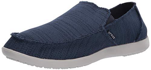 Crocs Men's Santa Cruz Downtime Slip On Loafers, Navy/Pearl White, 11