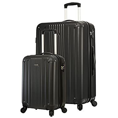 TravelCross Milano Luggage Lightweight Spinner Set (Black, 2 piece set (20''/ 28''))