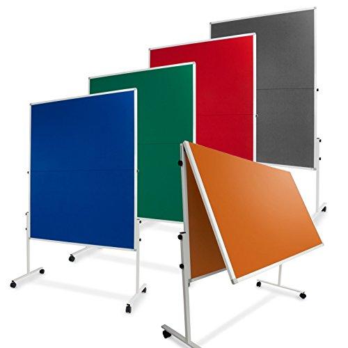 Moderationstafel Filz   klappbar   mit Rollen   120x150cm   Farbe wählbar (grau) - 6