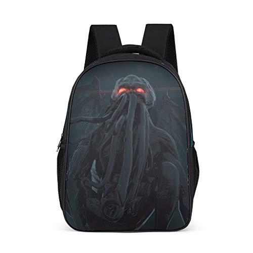 Mochila Cthulhu patrón Bookbag impermeable Daypack senderismo bolsa para hombres y mujeres, color, talla Talla única