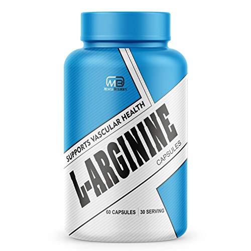 MB Muscle Builder L Arginine Pre Workout,Essential Amino Acid for Muscle Building & Endurance -750mg (60capsule)