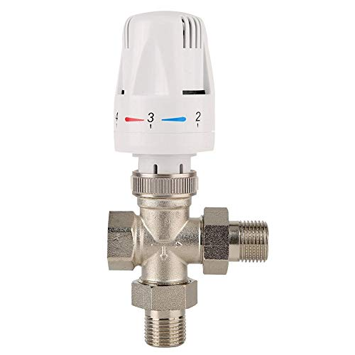 Temperatuurregelventiel 3-weg thermostaat radiatorventiel goede bestendigheid geschikt voor water, olie, niet corrosieve en niet-brandbare gassen. (DN20 3/4