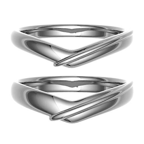 [ココカル]cococaru ペアリング 結婚指輪 シルバー 2本セット マリッジリング 日本製 (レディースサイズ11号 メンズサイズ2号)