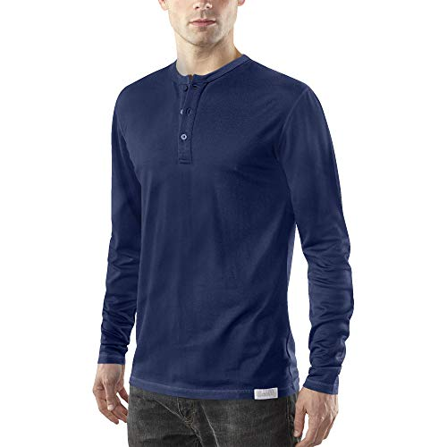 Woolly Clothing Men's Merino Wool Long Sleeve Henley -...