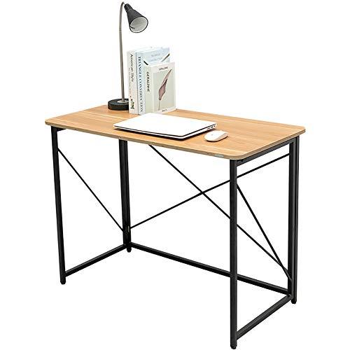 Escritorio Plegable Mesa De Ordenador Para Computadora Y Computadora Portátil Mesa De Estudio Oficina De Estilo Industrial Escritorio Metal Robusto 100 * 50 * 75 Cm