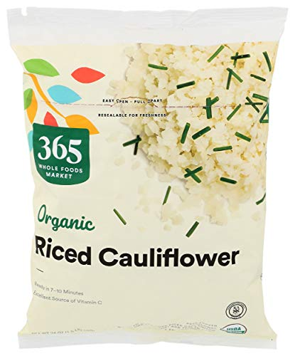 365 by Whole Foods Market, Frozen Organic Riced Cauliflower, 24 Ounce