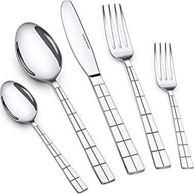 Utopia Kitchen 20 Piece Flatware Set Silverware Set Stainless Steel Service for 4 Multipurpose Use for Home Kitchen or Restaurant