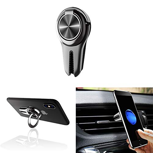 Alllink Mobile Phone Holder,Smartphone mounts, Car Vent Phone Holder with Ring for iPhone Xs X 8 8S, iPad Air 2 Mini 3, Samsung Galaxy S6 S5 S4 Note Tab,Nexus,HTC,Huawei, Xiaomi, Vivo, Gopro (Black)
