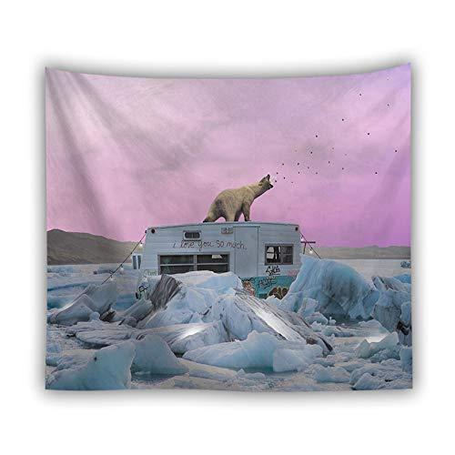 jtxqe Fábrica Directa tapicería Picnic Estera Animal Tapiz impresión Digital Lobo león Tigre Pared Caliente Colgar en la Pared decoración 21 150X100 cm