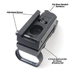 CVLIFE 1X22X33 Red Green Dot Gun Sight Riflescope Reflex Sight for 20mm Rail