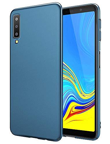 EIISSION Handyhülle für Samsung Galaxy A7 2018 Hülle, Hardcase Ultra Dünn Samsung Galaxy A7 2018 Schutzhülle aus Hart-PC Hülle Cover Handyhülle für Samsung Galaxy A7 2018- Dunkelblau