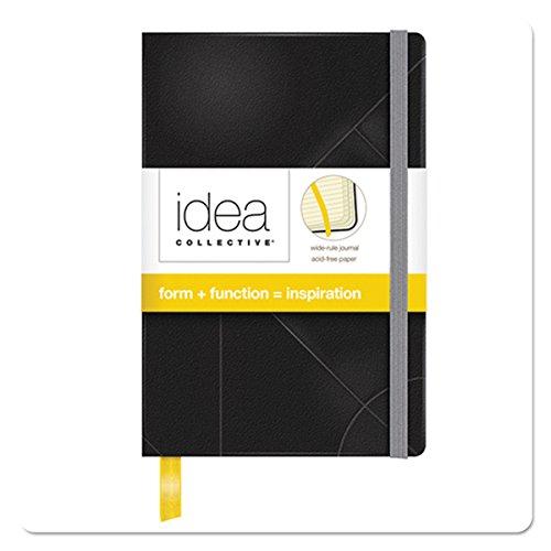 Tops Idee Collective Mini Tagebuch, breit Rule, Schwarz, cremefarbenes Papier, 14x 8,9cm, 192Seiten (56874)