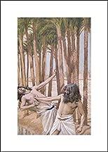 James Tissot 14x20 Art Print - Moses Slays an Egyptian