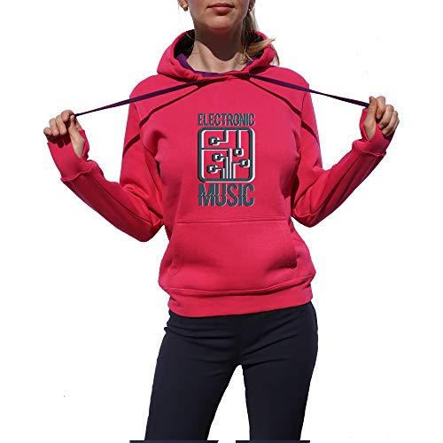 Wild Soul Tees, Pullover Hoodie, Logo de musique électronique | Série de musique | Design graphique | Logo | Vêtements | Ligne de vêtements - Rose - Small