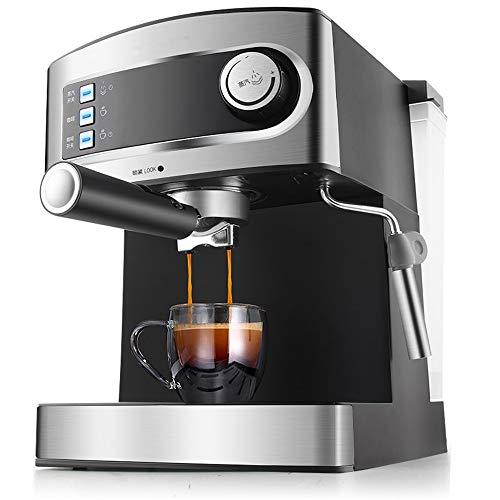 Espressomaschine | Kaffeemaschine | Milchaufschäumer | Cappuccinomaschine | Siebträger Espressomaschine | Elektrische Espressomaschine/Edelstahl Design / 1.6L Wassertank | 850 Watt |20 Bar |