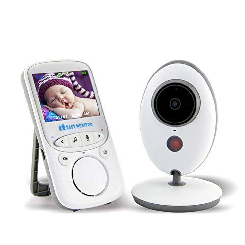 Babá Eletrônica Wi-Fi Câmera, 2.4 Polegadas De Vídeo Sem Fio,Branco
