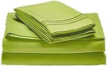 Elegant Comfort Juego de sábanas 1500 Hilos, Calidad egipcia, Resistente a Las Arrugas y la decoloración, 4 Piezas, Completo, Verde Lima