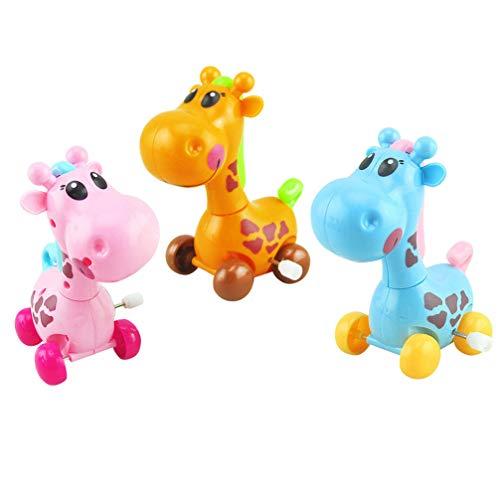 Toyvian Giraffe Spielzeug 3 Stücke Wind-Up Tier Spielzeug Uhrwerk Spielzeug Gastgeschenke Geburtstagsgeschenk für Kleinkind Kinder Kinder (Zufällige Farbe)