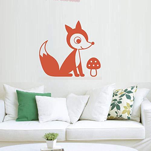 ONETOTOP Tribal Fox Vinyle Sticker Mural Pépinière & Bébé Chambre Décor Woodland Animal Stickers Muraux pour Enfants Bedroom Home Decoration42 * 46cm