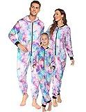 Ekouaer Family Matching Pajamas Set Fleece Onesie...