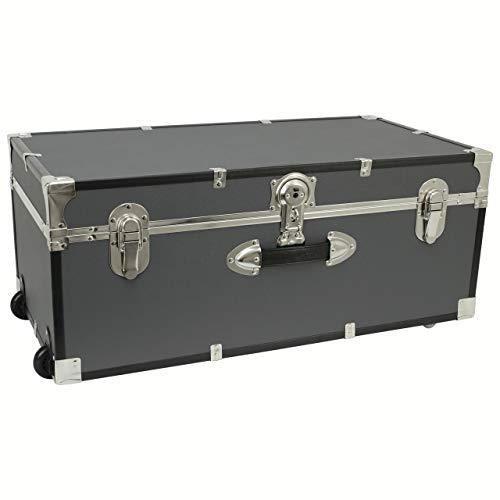 Seward Trunk 30-inch Footlocker Trunk with Wheels Grey (Gray)