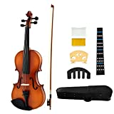 JUAREZ Legnò Full Size 4/4 Violin Kit, JRV100OR with Bow, Rosin, Fretboard Sticker