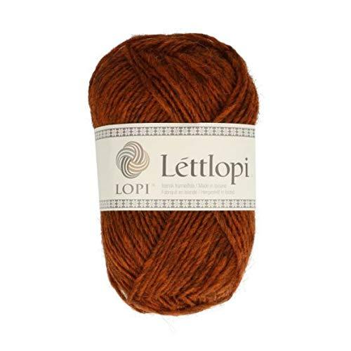 theofeel Lettlopi Wolle 9427 Kupfer braun, Islandwolle zum Stricken von Islandpullovern, Norwegermuster