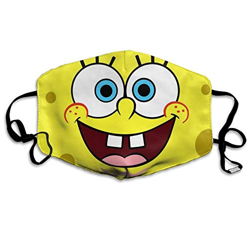 SpongeBob-SquarePants Face C-over Reusable Cartoon Mouth S-hield Protection Adjustable Earloop Face Mouth Anti Pollution