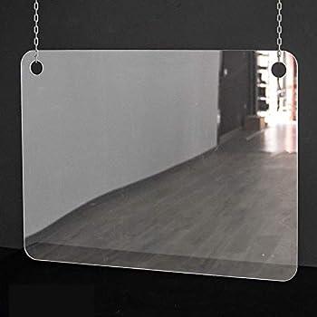 Mampara de protección | Metacrilato Transparente 2mm | Mampara Colgante Transparente (100cm ancho x 70 cm alto): Amazon.es: Oficina y papelería