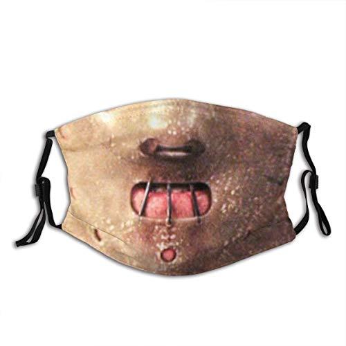 Han-nibal Lecter Outdoor Bandana de carbón activo protector de 5 capas para adultos, hombres y mujeres, bandana HannibalLecter01-1PCS