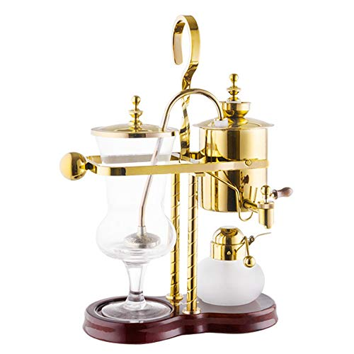 TGhosts Siphon Coffee Maker, Household Coffee Pot Royal Coffee Pot Manual Coffee Machine Brewing Appliance (2 Colors) (Color : Gold, Size : Does not embody grinder)