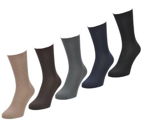 Aler Herren Socken 6 Paare Big Foot, Gr. 11-14, helle Farben