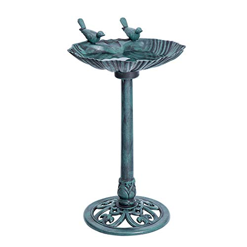 Vivohome Double Birds Garden Bird Bath