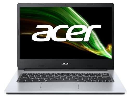 Acer Aspire 3 A314-35-P3G7 Ordinateur Portable 14'' HD, PC Portable (Intel Pentium Silver N6000, RAM 8 Go, SSD 128 Go, Intel UHD Graphics, Windows 10 ) - Clavier AZERTY (Français) - Laptop Gris